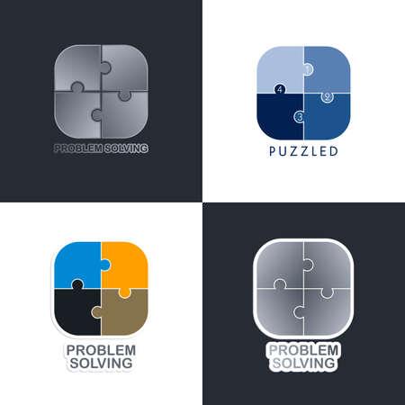problem solving: problem solving media icon button vector graphic art illustration