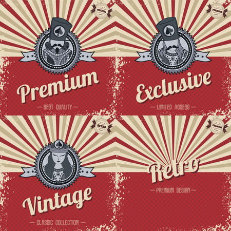 imperfections: retro page theme template vector art illustration
