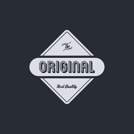 original: original badge theme vector art graphic illustration