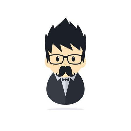 tuxedo man: tuxedo uomo tema illustrazione vettoriale arte grafica