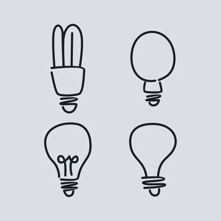 light bulb lamp theme vector art graphic illustration Illustration