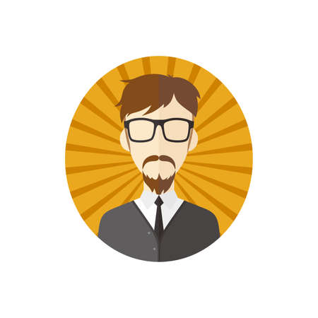man hipster avatar user picture cartoon character vector illustration Vector