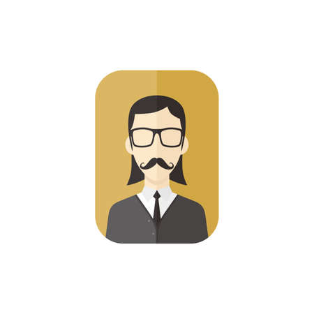 eccentric: man hipster avatar user picture cartoon character vector illustration