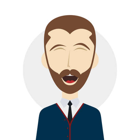hilarious: male laughing funny hilarious cartoon character vector illustration Illustration