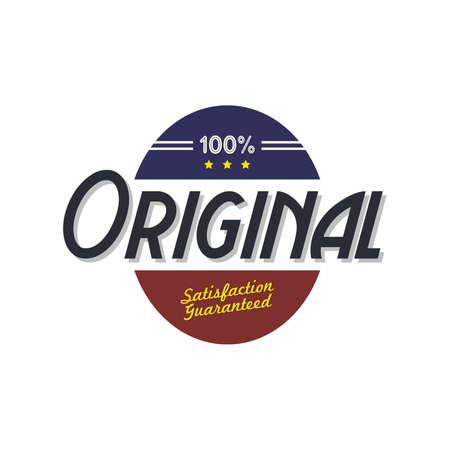 art product: original product quality badge theme vector art illustration Illustration