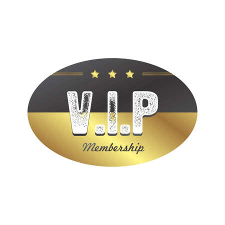vip badge: vip member badge theme vector art illustration