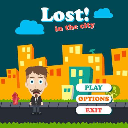 asset: game asset funny guy cartoon character vector illustration