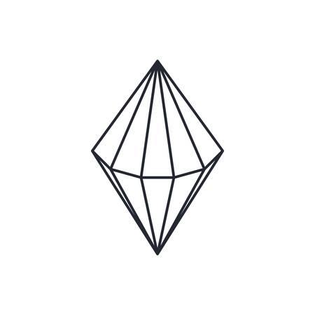 gemstone: precious diamond gemstone theme vector art illustration