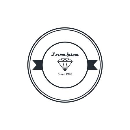a precious: precious diamond gemstone badge theme vector art illustration