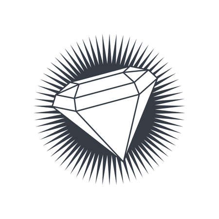 a precious: precious diamond gemstone theme vector art illustration