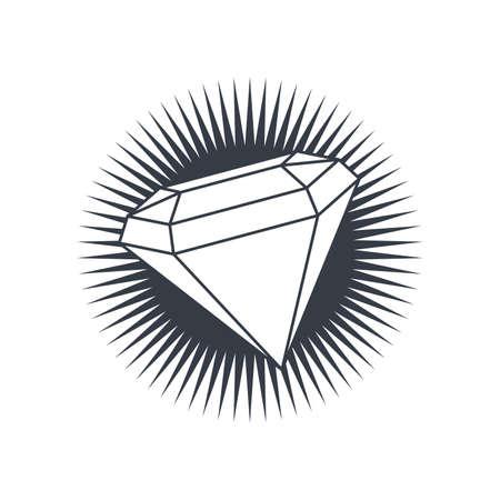 precious diamond gemstone theme vector art illustration
