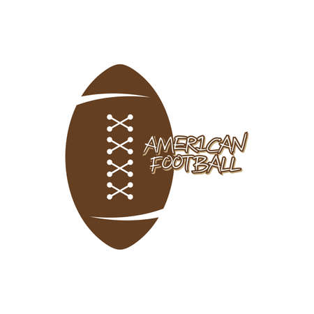 american football theme vector graphic art illustration Vector