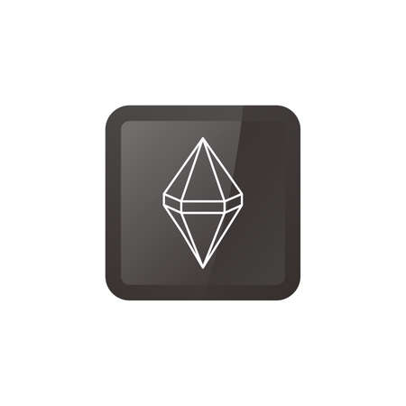 gemstone: diamond jewelry gemstone theme vector art illustration