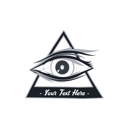 ojo de horus: horus un ojo arte tema ilustración vectorial
