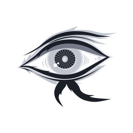 artistic abstract eye theme vector art illustration