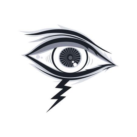 illuminati: artistic abstract eye theme vector art illustration