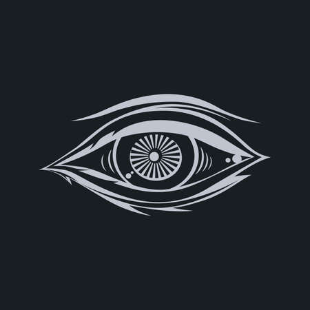 ojo de horus: horus un ojo arte tema ilustraci�n vectorial