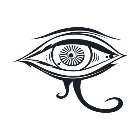 horus one eye theme vector art illustration Stock Illustratie