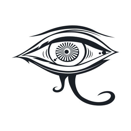 horus one eye theme vector art illustration Ilustrace