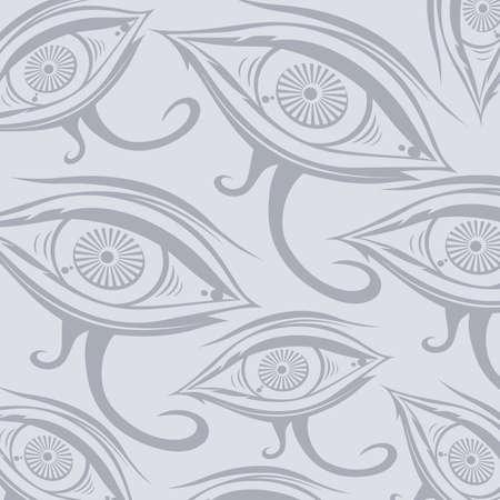 occhio di horus: Horus un occhio tema illustrazione vettoriale arte