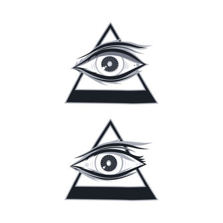 one eye: horus one eye theme vector art illustration Illustration