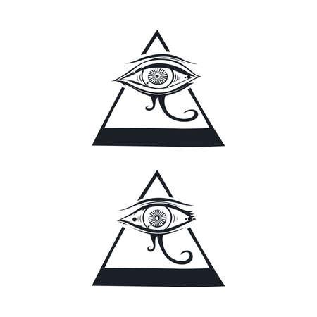 horus: horus one eye theme vector art illustration Illustration
