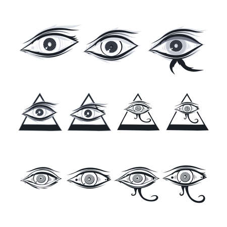 eye of horus: horus one eye theme vector art illustration Illustration