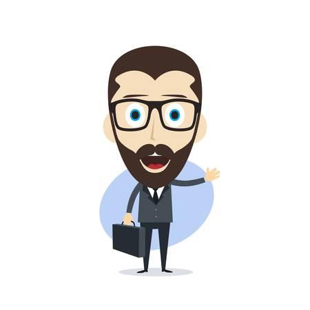 zakenman cartoon karakter thema vector kunst illustratie