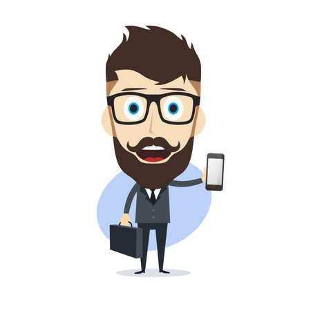 counselor: businessman cartoon character theme vector art illustration