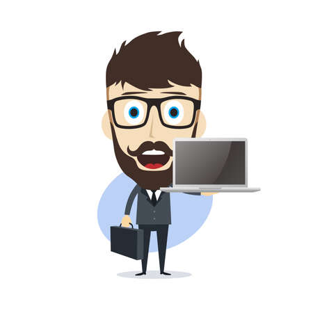 businessman cartoon character theme vector art illustration