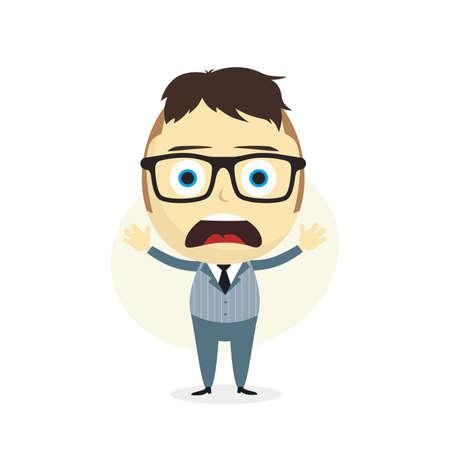 ignorancia: despistado empresario de dibujos animados tema de car�cter ilustraci�n de arte vectorial