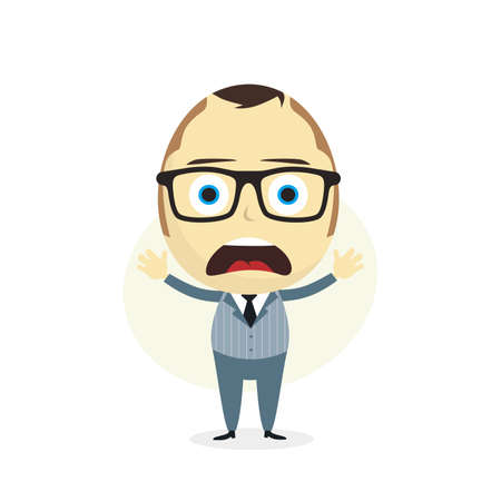 clueless: clueless businessman cartoon character theme vector art illustration