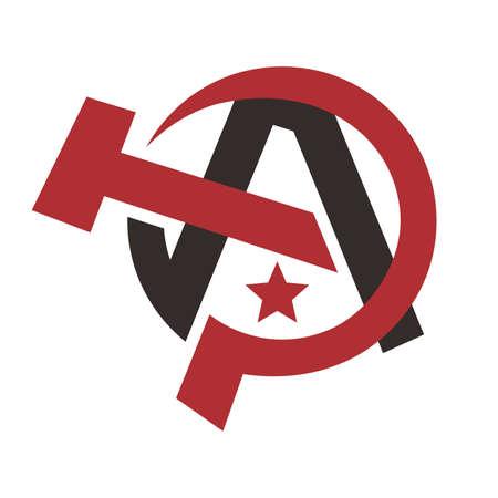 defiance: global communism party theme vector art illustration