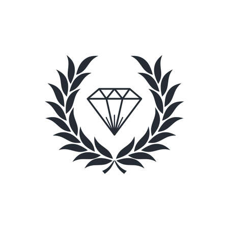 花輪テーマ ベクトル アート イラストの中のダイヤモンド