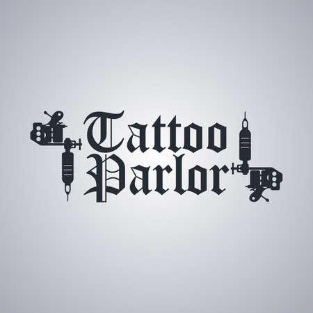 tattoo machine art theme vector art illustration