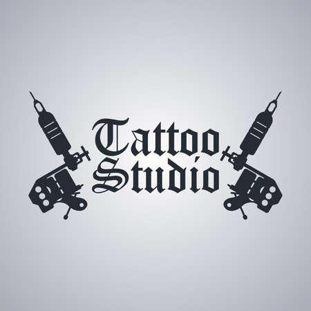 Machine à tatouer art thème vector art illustration Banque d'images - 41172835