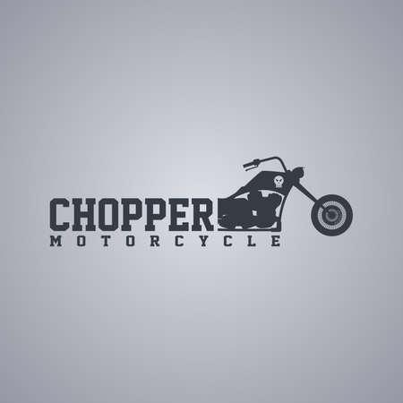 motorization: classic chopper motorcycle theme vector art illustration