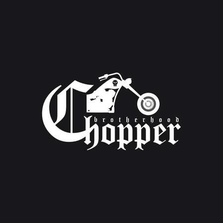 chopper: classic chopper motorcycle theme vector art illustration