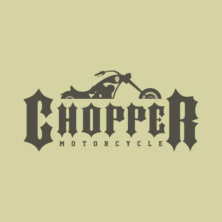 motorway: classic chopper motorcycle theme vector art illustration