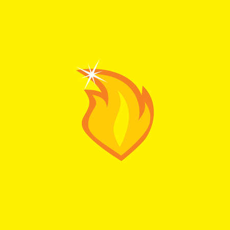 flame letters: cartoon icon button theme vector art illustration