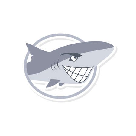 enemy: cartoon cute shark fish theme vector art illustration Illustration