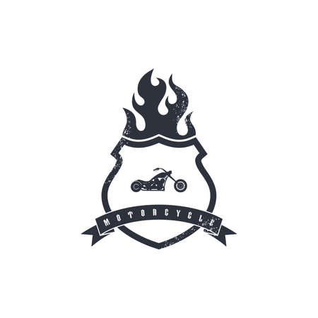 fire shield: fire shield motorcycle Illustration