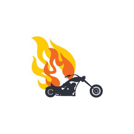 motorization: classic chopper motorcycle