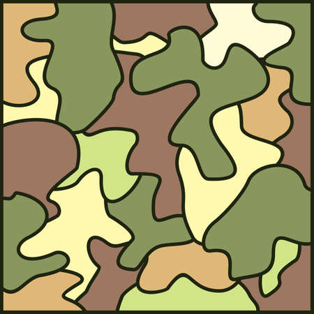 troop: army camouflage background Illustration