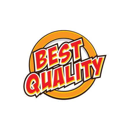 best quality: the best quality badge theme vector illustration