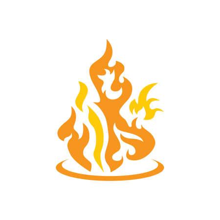 quemadura: quemadura fuego caliente del arte del vector del tema de la ilustraci�n