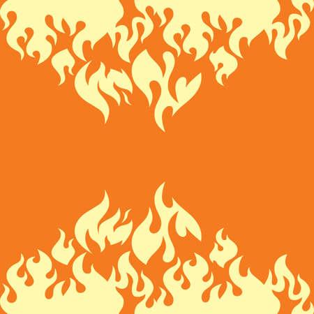 burn: hot fire burn theme vector art illustration