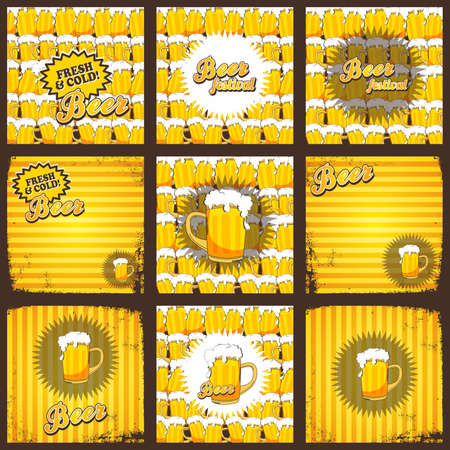 thirsty: cold beer theme graphic art vector illustration