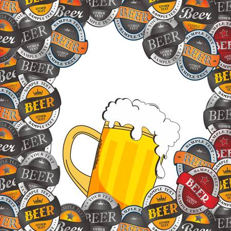 thirst: cold beer theme graphic art vector illustration