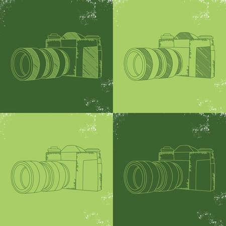 capturing: camera theme vector graphic art design illustration